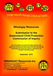 Winangay Resources Inc - Queensland Child Protection ...