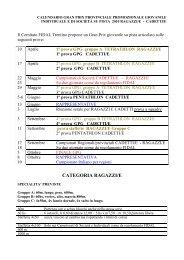 Calendario/Regolamento Grand Prix Giovanile - ASD Atletica ...
