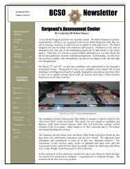 BCSO Newsletter - Bonner County Sheriff's Office