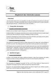 Règlement des Interclubs suisses - Fédération Suisse de Scrabble