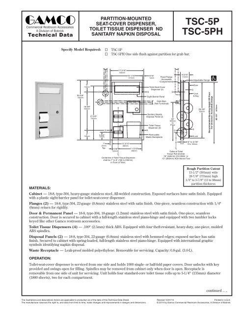 Phenomenal Technical Data Sheet Gamco Ncnpc Chair Design For Home Ncnpcorg