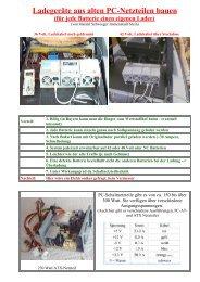 Ladegeräte aus alten PC-Netzteilen bauen (für jede Batterie einen ...