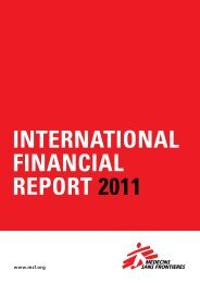 MSF Financial Report 2011 - Médecins Sans Frontières