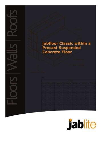 Classic Precast Suspended Concrete Floor - Jablite