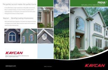 Prova Siding brochure - Kaycan
