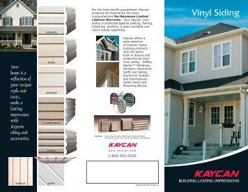 Vinyl Siding - Kaycan