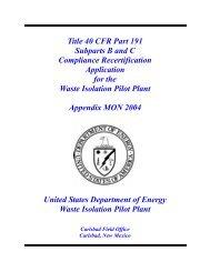 Appendix MON-2004 - Waste Isolation Pilot Plant - U.S. Department ...