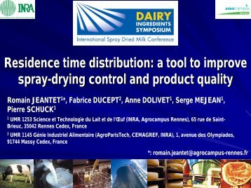 A Tool to Improve Spray Drying Control and Product Quality