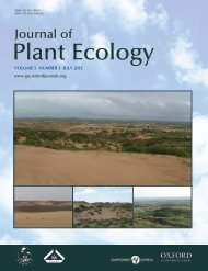 Journal of Plant Ecology - Oxford Journals
