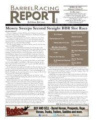 4/30 - Barrel Racing Report