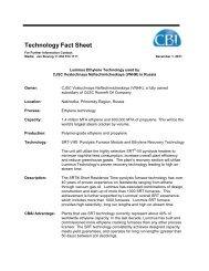 Technology Fact Sheet - CB&I