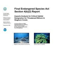 Final Endangered Species Act Section 4(b)(2) Report - Southeast ...