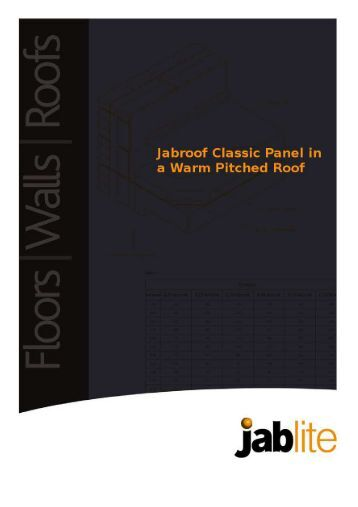 Jabroof Classic Panel in a Warm Pitched Roof - Jablite
