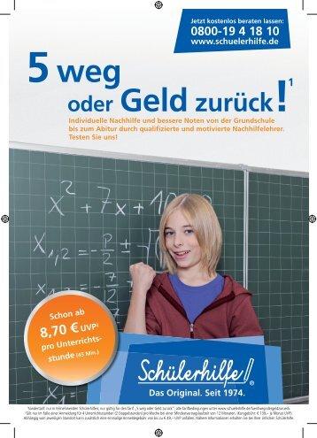 Individueller Handzettel - Schülerhilfe