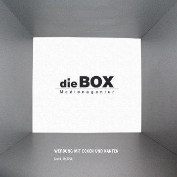 werbung mit ecken und kanten - die BOX Medienagentur GmbH