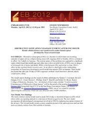 April 23, 2012 - Experimental Biology