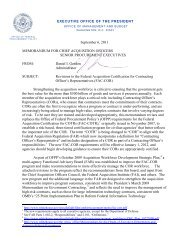 September 6, 2011 MEMORANDUM FOR CHIEF ... - The White House