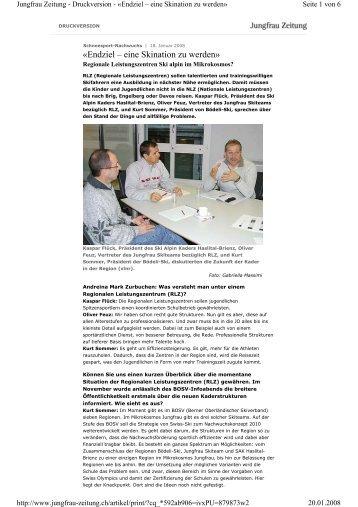 Interview zu Regionales Leistungszentrum - Bödeli Skiteam