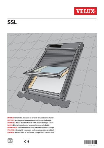 Ksx 100 velux for Velux solar blinds installation instructions