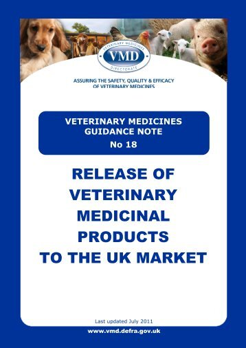 TABLE OF CONTENTS - Veterinary Medicines Directorate - Defra