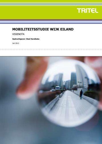 MOBILITEITSSTUDIE WIJK EILAND - Stad Harelbeke