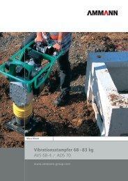 Vibrationsstampfer 68 – 83 kg AVS 68-4 / ADS 70 - Moser ...
