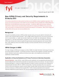 New HIPAA Privacy and Security Requirements in Stimulus Bill