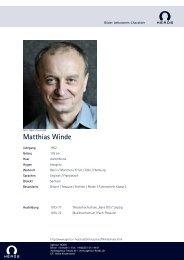 Matthias Winde - Agentur Heads