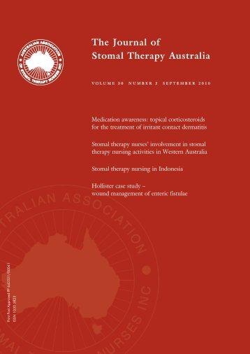 JSTA September 2010 - Australian Association of Stomal Therapy ...