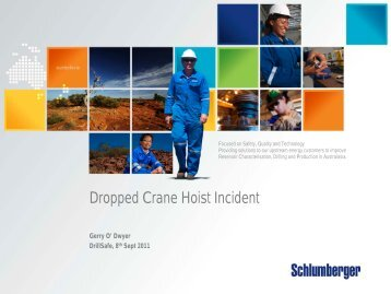 Dropped Crane Hoist Incident - DrillSafe