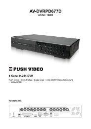 Art. Nr. 15980 AV-DVRPD677PV Digitaler Video Rekorder mit Push ...