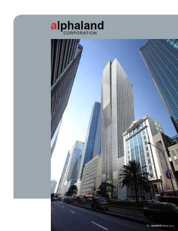 2009 Annual Report - Alphaland Corporate