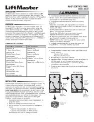 MyQ® CONTROL PANEL - LiftMaster