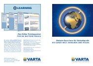 ford batterie-vorschrift silber - VARTA PartnerNet UK - VARTA ...