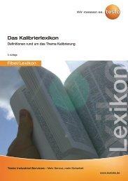 Das Kalibrierlexikon - Testo Industrial Services GmbH
