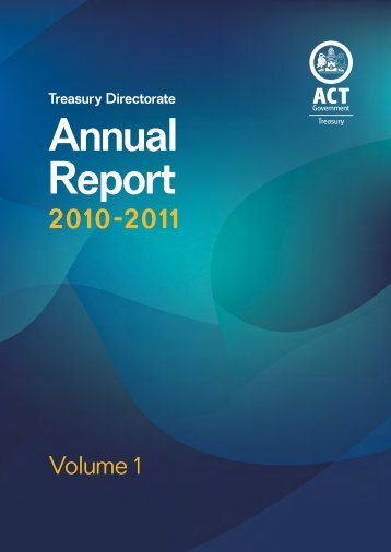 Treasury Directorate Annual Report 2010-2011 - Treasury - ACT ...
