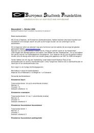 Nieuwsbrief 1 - Oktober 2008