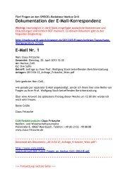 Dokumentation der E-Mail-Korrespondenz - CAM Media.Watch