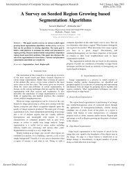 A Survey on Seeded Region Growing based Segmentation ... - ijcsmr