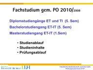 Präsentation zum Fachstudiumeintritt SoSe 2013 - Fakultät für ...