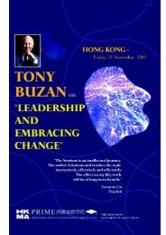 Tony Buzan on Leadership & Embracing Change - Hong Kong ...