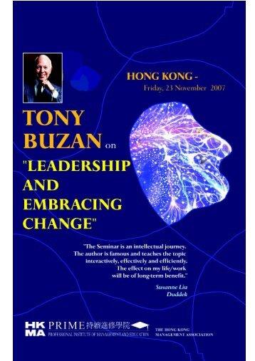 Tony Buzan on Leadership & Embracing Change - Hong Kong ...