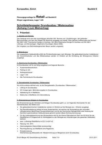 Schnittstellenpapier Grundausbau / Mieterausbau - Markt ...