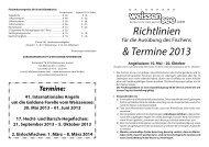 Richtlinien & Termine 2013 - Weissensee