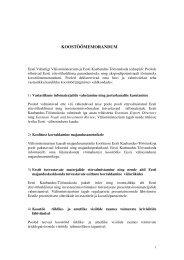 Välisministeeriumi ja Kaubandus-tööstuskoja ... - Arengufond
