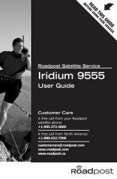 Iridium 9555 User Guide - Roadpost
