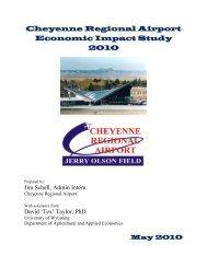 Cheyenne Regional Airport Economic Impact Study 2010