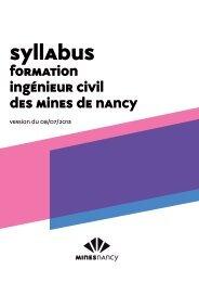 Formation Ingénieur civil des mines de nancy - École des Mines de ...