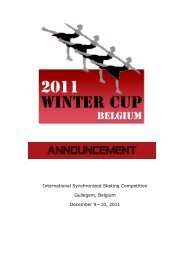 International Synchronized Skating Competition Gullegem, Belgium ...