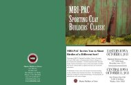 SPortIng ClAy BuIlderS' ClASSIC - Master Builders of Iowa